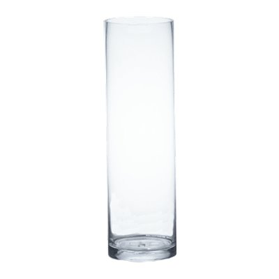 CYS Handblown Tall Glass Cylinder Vase (1 Pack), 26