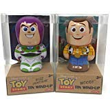 Toy Story Buzz Lightyear and Woody Tin Wind-Up Toys