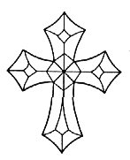 Stained Glass Supplies Cross (4mm)