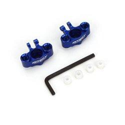 Integy T3414BLUE Alloy Steering Block (2) for 1/16 Traxxas E-Revo VXL,Slash VXL,Summit VXL,Rally - Integy Alloy Steering Block