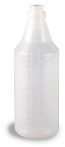 Continental Round Trash Can - Continental 932CG Natural 32 Oz. Round Plastic Bottle (Case of 100)