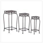 3Pc French Market Home Decor Plant Stands Shelf Rack