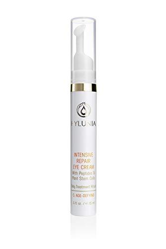 Hylunia Intensive Repair Eye Cream - 0.5 fl oz - Anti-Aging for Dark Circles and Wrinkles - with Vitamin E, Shea Butter, Hyaluronic Acid Serum - Natural Vegan Moisturizer