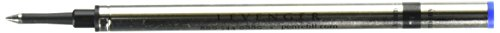 Levenger 2 Rollerball .6mm Refills Safety Ceramic, Blue Fine (PR1590 BL F)