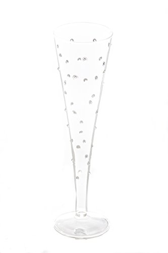 Abigails La Boheme 10-Ounce Clear with Small Flute Glass with Dots ()