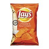 Lay's Cheddar & Sour Cream Flavored Potato Chips, 7.75 oz
