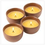 Terra Cotta Candles Set Of Four Candle Pots Unscented