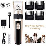 iFedio Dog Clippers Low Noise Cordless Pet Grooming Clippers Trimmer Professional Heavy Duty