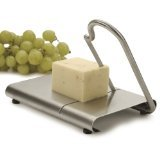 RSVP Endurance Stainless Steel Modern Cheese Slicer with Stainless Steel Blade