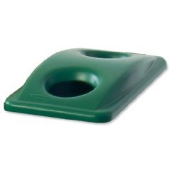 (Rubbermaid Slim Jim Lid for Bottle Recycling System Green Ref 2692-88-GRN )