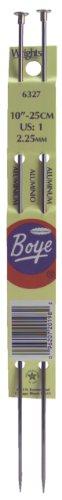 Boye 10-Inch Aluminum Single Point Knitting Needles, Size 4