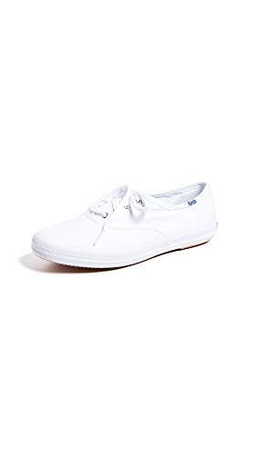 Keds Women's Champion Sneaker,White Canvas,8 M US