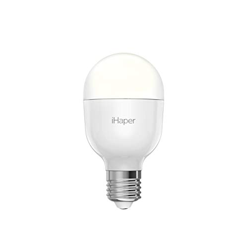 iHaper B2 Smart Light Bulb – Apple HomeKit Bulb, E26 WiFi LED Light Bulb, 3000K Daylight White, Dimmable, No Hub Required, Support Amazon Alexa, and Google Assistant (Only for iOS)