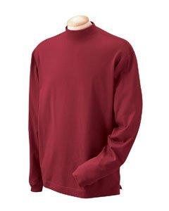 - Devon & Jones Sueded Cotton Jersey Mock Turtleneck - X-Large - CRIMSON