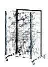 School Specialty Mobile Steel Drying Rack - 26 1/2 x 27 x 43 inches (Poster Display Rack Board)