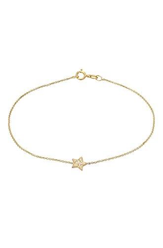 14k diamond star bracelet, zoe lev jewelry