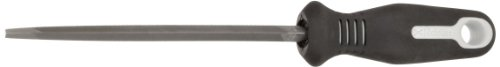 Apex Tool Group Nicholson Triangular Slim Taper Hand File With Ergonomic Handle, Single Cut, American Pattern, 6