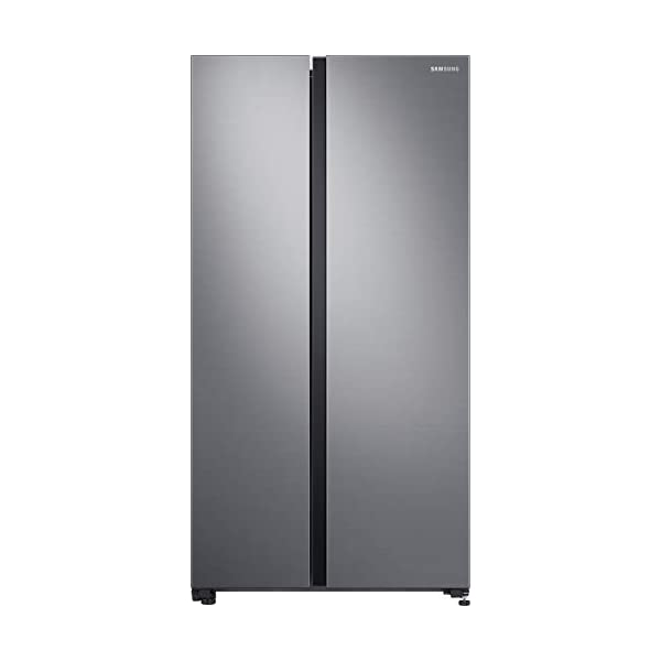 Samsung 700 L Inverter Frost Free Side-by-Side Refrigerator (RS72R5001M9TL, Gentle Silver Matt, SpaceMax Technology) 2021 July Frost-free side-by-side refrigerator; 700 litres , Product Dimensions (WxHxD):91.2CM x 178CM x 71.6CM / 3ft x 5ft 10inch x 2ft 4inch Spacemax Technology: more Space Inside, with unique spacemax Technology All around Cooling: Fresh Food, everywhere