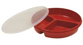 ed w/Lid Redware (Compartment Scoop Dish)