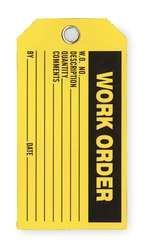 Industrial Grade 2RMV2 Production Tag, Work Order, Pk 100
