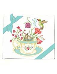 Cottage Towel - Alice's Cottage Hummingbirds and Teacup Flour Sack Kitchen Towels Set of 2 Cotton