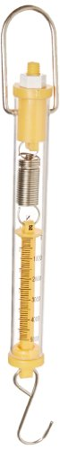 - Ajax Scientific ME505-5000 Plastic Tubular Spring Scale, 5000g/50N Weight Capacity, Yellow