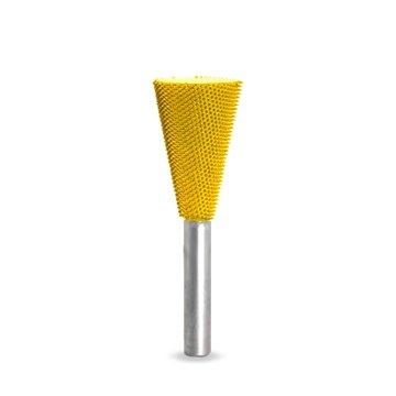 Fr/ässtift Schwalbenschwanz-Form mit 6mm Schaft f/ür Geradschleifer Fr/äskopf 3//4SE, Gelb