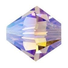 40 Lt Amethyst AB 2X Swarovski Crystal Bicone Beads 4mm ()