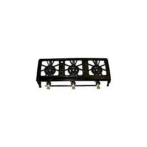 Cast Iron Triple Burner Propane Stove, Model# 635113, Outdoor Stuffs