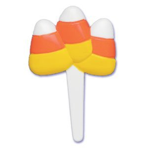 Oasis Supply - 24 Halloween Cupcake Cake Toppers plus Bonus Free Halloween Tattoos (Candy Corn Picks)