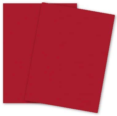 Popular Red Wild Cherry 8-1/2-x-11 Paper Lightweight Multi-use 50-pk - PaperPapers 104 GSM (28/70lb Text) Letter size Econo Everyday Paper - Professionals, Designers, Crafters and DIY -