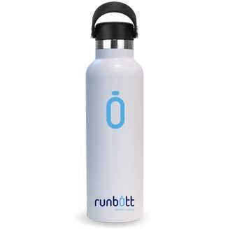 Runbott Botella Agua Acero Inoxidable sin BPA con Recubrimiento OInterno Ceramico 600 ml Doble Capa con Vacio Sin Sabor Metalico Azul