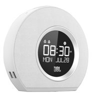 - JBL Horizon Bluetooth Clock Radio with USB Charging and Ambient Light (White)