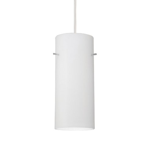 WAC Lighting PLD-F4-454WT/BN Dax 1-Light MonoPoint Pendant with White Glass Shade and Brushed Nickel Finish