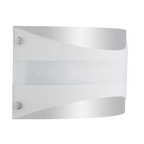 Acciaio Wall Sconce 1 Light Lamp Polished Chrome with White Diffuser - Linea di Liara LL-SC6-PC