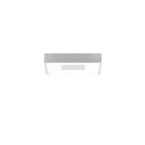 "picture of Tech Lighting 700FMWNTSSS-LED830-277 Wynter - 6.9"" 15W 1 LED Small Square Flush Mount - 277V, Satin Nickel Finish with Acrylic Glass"