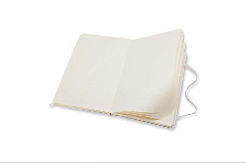 Moleskine Classic Notebook, Hard Cover, Large (5'' x 8.25'') Ruled/Lined, White by Moleskine (Image #4)