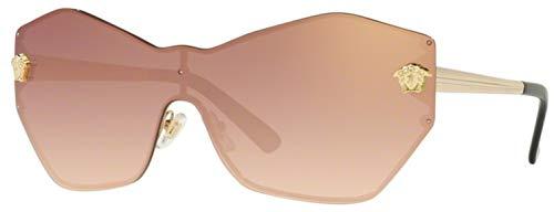 Versace Women's VE2182 Pale Gold/Gradient Pink Mirror One ()