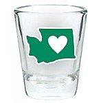 Heart in Washington Shot Glass