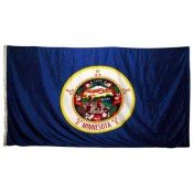 Minnesota 5ft x 8ft Spun Heavy Duty Polyester Flag