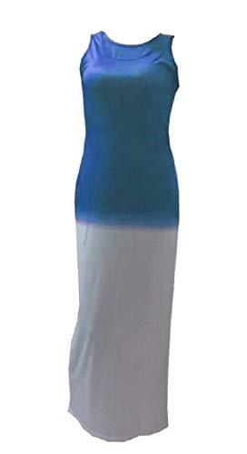 Jaycargogo Femmes Manches Robes Débardeur Gradient Maxi 1