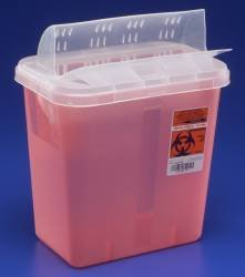 2 Gallon Horizontal Sharp Container, Red