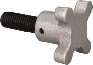 JumpingBolt 5/8-11 Lobed Shoulder Flat Tip Grade C-12L14 Steel Thumb Screw 3-1/. Material May Have Surface Scratches