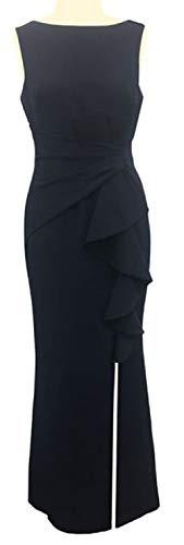 (Eliza J Women's Ruffle Front Formal Dress, black, 6)