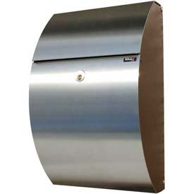 (Allux Series Mailbox Wall Mount Allux 7000 in Black/Stainless)