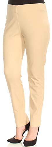 - LAUREN RALPH LAUREN Womens Solid Twill Skinny Pants Tan 12