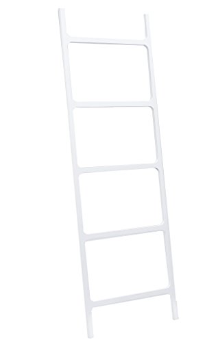 DWBA Stone Standing Towel Rack Ladder for Bathroom Spa Towel Hanger, White by DWBA Bath Collection