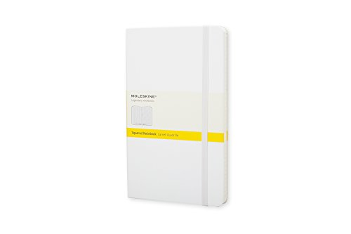 """Moleskine Classic Notebook, Hard Cover, Pocket (3.5"""" x 5.5"""") Squared/Grid, White, 192 Pages"""