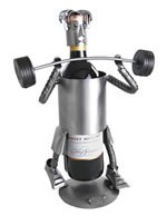 Weight Lifter Wine Caddy ()