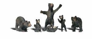 Bear Cub Miniature - Woodland Scenics N Black Bears